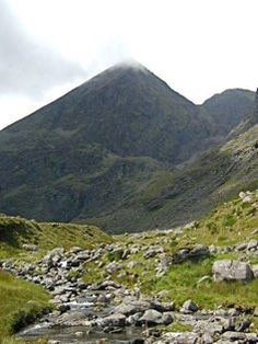 Carrauntoohil - first view from Hag;s Glen Ireland, Irish