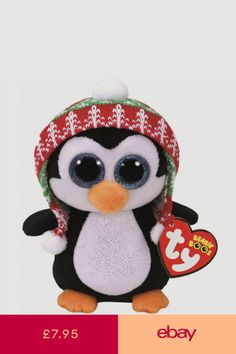 38b93670940 Ty Beanie Babies 37239 Boos Penelope the Christmas Penguin Boo