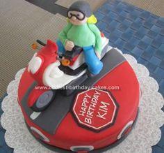 Scooter Birthday Cake cakepins.com