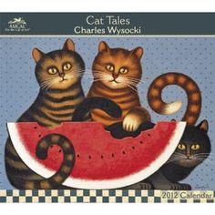 2012 Charles Wysocki  Cat Tales Wall Calendar