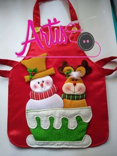 Christmas Time, Christmas Crafts, Xmas, Christmas Ornaments, Fabric Boxes, Craft Sale, Apron, Diy And Crafts, Projects To Try