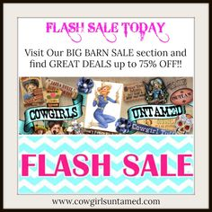 24 HOUR FLASH SALE! We need to make room for new Spring fashion. Up to 80% Off!! Visit our BIG BARN SALE section to find your new fashion items here: http://www.cowgirlsuntamed.com/catalog.php?sale=yes  COWGIRLS UNTAMED ~ Fashion For Your Cowgirl Gypsy Rebel Soul www.cowgirlsuntamed.com #sale #flashsale #clearance #deal #discounted #designer #clothing #cardigans #sweaters #handbags #cowgirl #lace #rings #jewelry #corsets #dresses #tops #onlineshopping