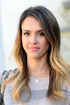 Jessica Alba with dip-dye hair - Hair Colour Spring Summer 2013 Hair Lights, Light Hair, Jessica Biel, Jessica Alba Hair, Rachel Bilson, Caroline Flack, Hair Color Guide, Dipped Hair, Virtual Hairstyles