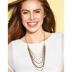 StyleSwap™ Linear Metals Interchangeable Necklace Set  Take your style from a simple statement - all in one piece! Goldtone and black faceted beads highlighted this multi-layered necklace set with multiple ways to wear it. $29.99 louisesmalley.avonrepresentative.com