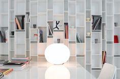 Perfect place to read a book Random Bookcase Lacquered white by MDF Italia Italia Design, Shelf System, Luminaire Design, Elle Decor, Design Awards, Contemporary Furniture, Decoration, Plank, Bookshelves
