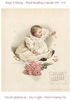 May 1899 Maud Humphrey Calendar Page