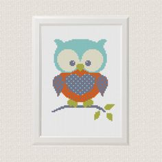 Modern cross stitch pattern Owl Baby Animals от AnimalsCrossStitch