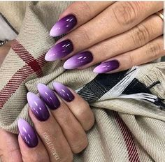 Amazing nail polish color trends you want to have all year round . - Amazing nail polish color trends you want to have all year round – nails – - Purple Nail Art, Purple Nail Designs, Purple Nail Polish, Best Nail Art Designs, Nail Polish Colors, Acrylic Nail Designs, Purple Ombre Nails, Gel Ombre Nails, Nexgen Nails Colors
