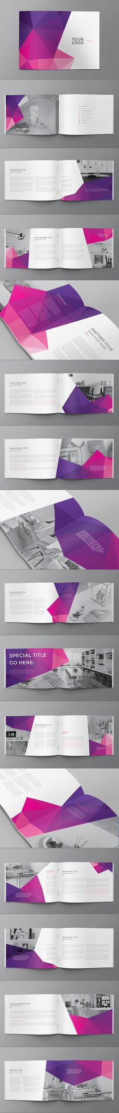 Colorful Pattern Brochure on Behance magic editorial Pinterest - retro brochure template