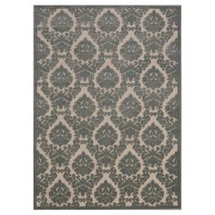 """Nourison Damask Ultima Accent Rug - Ivory/Green (3'6""""X5'6"""")"""