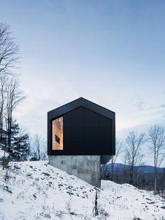 casa de campo minimalista preta
