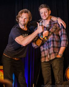 "fluffycastiel: "" Jared Padalecki and Jensen Ackles - VanCon 2016 Photography by…"