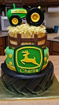 Cute john deer baby shower cake