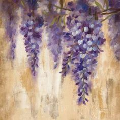 Great Big Canvas 'Wisteria Bloom I' by Silvia Vassileva Painting Print Format: Canvas, Size: H x W x D Abstract Canvas, Canvas Art, Canvas Size, Big Canvas, Painting Prints, Art Prints, Wall Paintings, Framed Artwork, Framed Prints