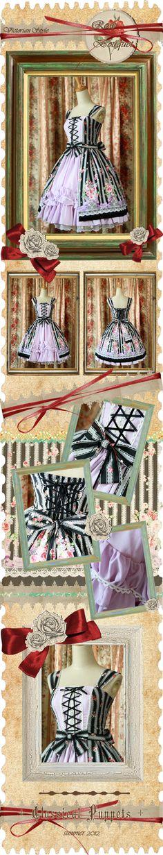 ◆ ◆ classic doll rose carol + Rose Bouquet + former Victorian style open jsk Dress - Taobao -- $86 #classicalpuppets #taobao  #lolita #lolitafashion #jfashion