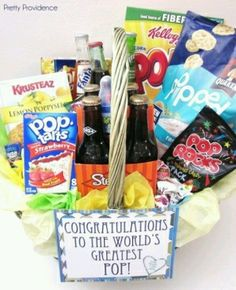 Great gift basket idea for fathers day. Pop! by erika