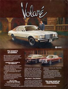 ...another childhood family car - the 1976 Plymouth Volare. Guess Dad had a thing for Plymouths.
