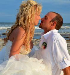 a sexy beach wedding photo