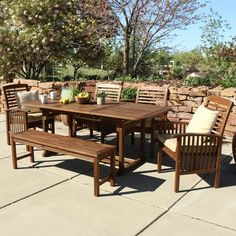 Darby Home Co. Widmer 6-Piece Acacia Patio Dining Set with Cushions (THIS ONE)