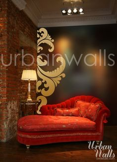 Vinyl Wall Sticker Decal Art  Side Swirl by urbanwalls on Etsy