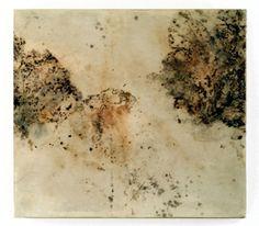 Cynthia Winika Spore Print leaf mold spore prints and encaustic on cotton paper on birch panel. Wax Art, Encaustic Painting, International Artist, Mixed Media Painting, Creative Inspiration, Printmaking, Fine Art, Sketching, Birch
