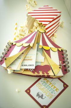 The Celian Circus, box and baby album - Scrapbook.com