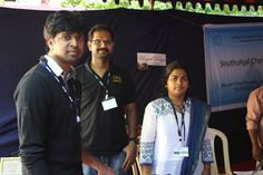 With Madhan Karky at Ungal Design Photo Stall in CEGAM - College of Engineering Global Alumni Meeting
