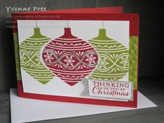 Embellished Ornaments, Stampin' Up!, Yvonne Pree, 2015 Holiday Catalogue, Christmas 2015