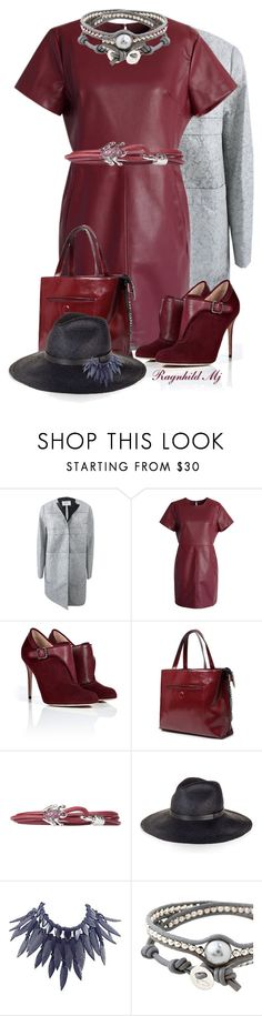 """""""Leather Outfit For this Weekend"""" by ragnh-mjos ❤ liked on Polyvore featuring Schumacher, Chicwish, Paul Andrew, Dada Arrigoni, Gucci, Giorgio Armani, Colana, women's clothing, women and female"""