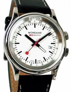 Mondaine Watch | 2nd Timezone | Steel | Watch database watchtime.com