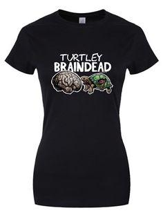 Zombie Petz Turtley Braindead Ladies Black T-Shirt Exclusive To Grindstore!