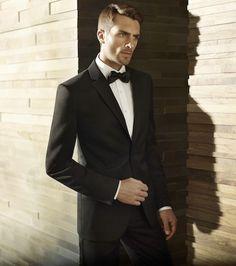 Black Tuxedo for all your black tie events - Vera Wang - Elegant Wedding Men, Wedding Suits, Wedding Ideas, Wedding Attire, Wedding Dresses, Menswear Wedding, Wedding Tuxedos, Wedding Inspiration, Wedding Designs