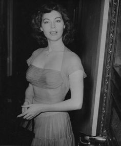 """ Ava Gardner at the premiere of The Dancing Years, London, 1950 """