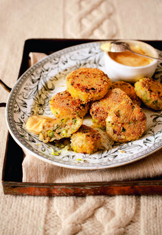 This crab and leek cake recipe is delightfully flavoursome