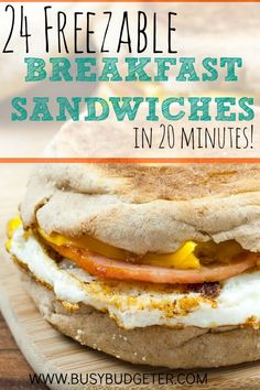 Batch Cooked Freezer Sausage, Egg and Cheese Breakfast Sandwiches - Tips Kesehatan Batch Cooking, Freezer Cooking, Freezer Meals, Cooking Recipes, Cooking Ideas, Freezer Recipes, Breakfast On The Go, Make Ahead Breakfast, Breakfast Muffins