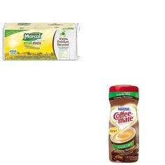 KITMRC6506NES59573  Value Kit  Coffeemate Sugar Free Creamy Chocolate Flavor Powdered Creamer NES59573 and Marcal 100 Premium Recycled Luncheon Napkins MRC6506 * Continue to the product at the image link.