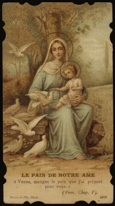 Mary and Jesus Catholic Pictures, Jesus Pictures, Blessed Mother Mary, Blessed Virgin Mary, Religious Images, Religious Art, Religion, Vintage Holy Cards, Images Of Mary