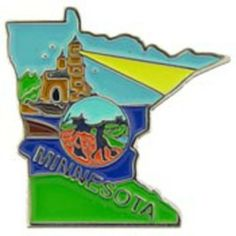 "Minnesota Map Pin 1"" by FindingKing. $8.50. This is a new Minnesota Map Pin 1"""