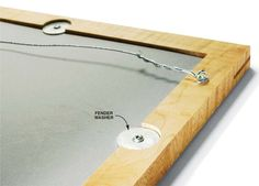 Large washers: good and easy method for holding pictures/mirrors etc. into frame. - American Woodworker