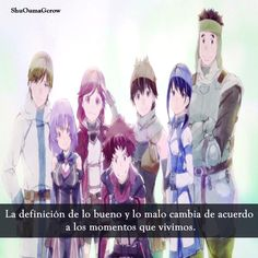 #Hai_to_gensou_no_Grimgar la definición de lo bueno y lo malo #Anime #Frases_anime #frases