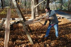 what is green woodworking? Green Woodworking, Woodworking Projects, Teds Woodworking, What Is Green, Timber Logs, Log Projects, Shelter Tent, Tiny Cabins, Cool Paintings