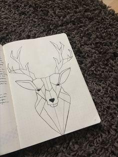 Geometric deer.