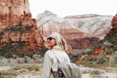 ^^ Always prepared with the pacifier! Also obsessed with my Fawn Bag ^^ ^^ Brad's cute parents ^^ ^^ I chopped my hair! What do you think? ^^ We took a last minute trip down to Zion National Park (we're…