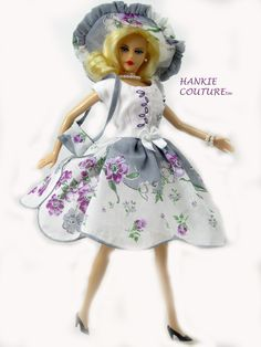 So Delicate! So Pretty! So Hankie Couture! An outfit from a vintage hanky, to…