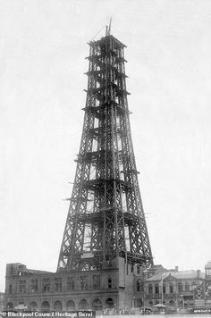 Unseen archive photographs have been unearthed to mark the birthday of the iconic Blackpool Tower, which remains a Lancashire landmark. Blackpool Promenade, Blackpool Beach, Blackpool Pleasure Beach, Old Pictures, Old Photos, Blackpool England, Strange History, History Facts, Shot Show