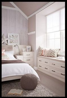 built in drawers, dressers, window seat
