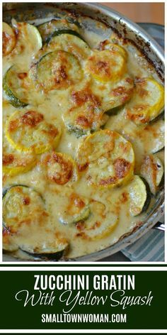 Zucchini gratin - Zucchini and Yellow Squash Au Gratin Zucchini Yellow Squash Vegetable Au Gratin Recipe Zucchini and Yellow Squash Sides Au Gratin Small Town Woman augratin veggieaugratin zucchinir Healthy Recipes, Vegetable Recipes, Vegetarian Recipes, Cooking Recipes, Zucchini Gratin, Zucchini Squash Casserole, Cheesy Zucchini Bake, Summer Squash Casserole, Yellow Squash Casserole
