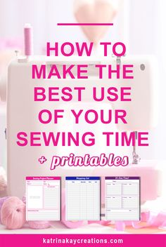 Sewing time can be hard to come by, so you want to get as much done in that time as possible. I show you 2 ways - Make a plan and group like tasks together. I also give you 3 printables to help you make the best use of your sewing time that you can download. Read the blog post or pin to save for later.