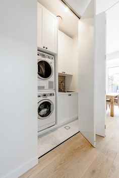 Petersham house| laundry cupboard | subway tiles | marble tiles