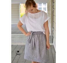 Styling und Nähideen für Blusenshirt Bloom - Schnittduett Waist Skirt, High Waisted Skirt, Elegantes Outfit, Bloom, Shirts, Instagram, Fashion, High Waist Skirt, Outfit Ideas